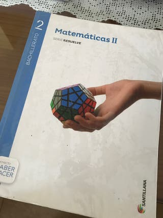 Libro Matemáticas 2 Bach