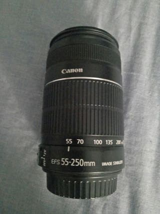 Objetivo canon EFS 55-250 mm