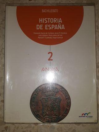 Libro historia de España 2°Bto
