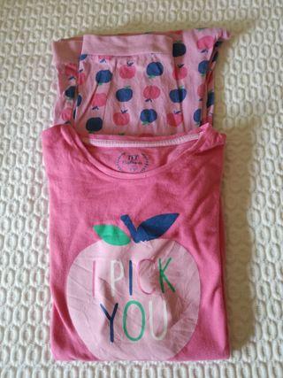 Pijamas talla 11/12 años niña.