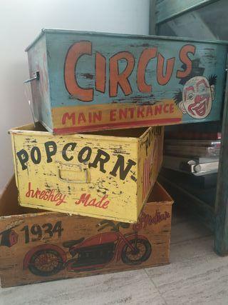 Caja metálica original vintage