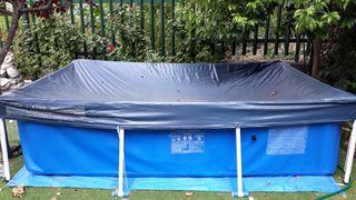 piscina desmontable y funda