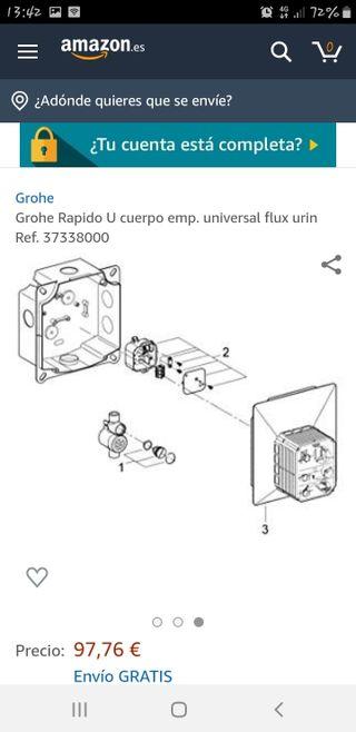 37338000 Grohe Rapido U cuerpo emp universal flux urin Ref