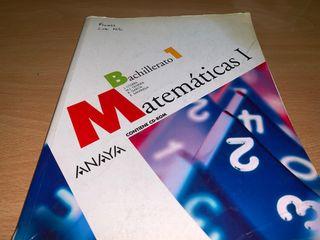 Libro 1 bachillerato Matemáticas Anaya