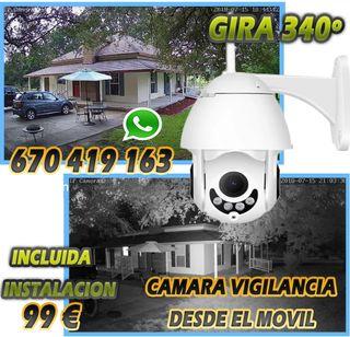 Cámara IP Wifi Exterior. Precio instalada