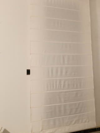 cortina estora algodón blanco deja pasar luz