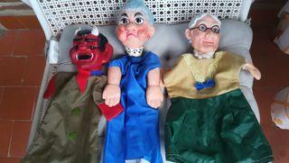 lote de 3 antiguos muñecos de guiñol