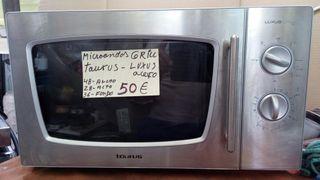 microondas con grill Taurus acero