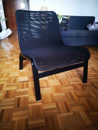 Sillón negro Ikea NOLMYRA