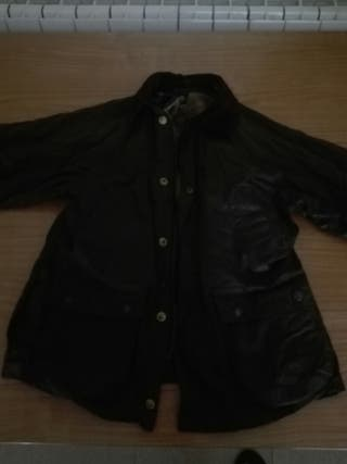 chaqueta impermeable tipo barbour