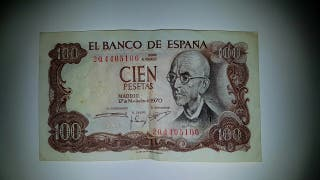 Billete original antiguo 100 pesetas
