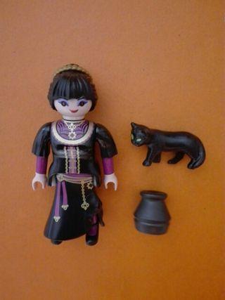 Playmobil bruja con gato negro vampiresa
