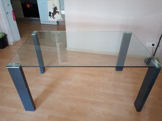 Mesa de cristal templado 150 x 90