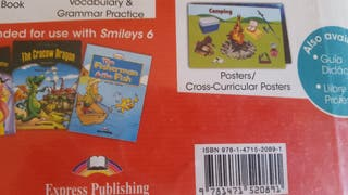 Libro escolar de inglés.