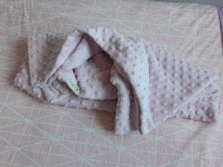 manta rosa claro to pitos niña