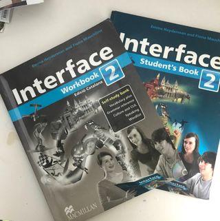 Libros Interface de inglés segundo de Eso