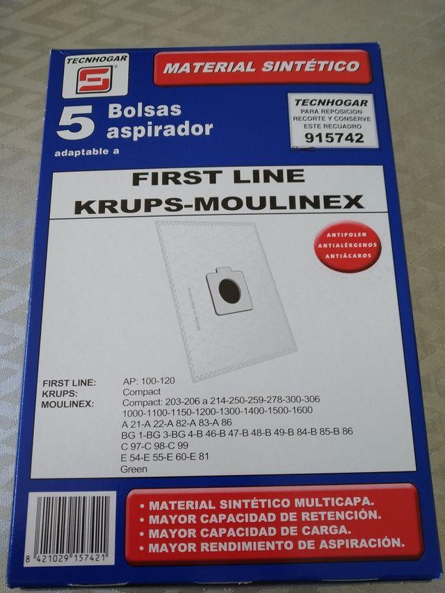 Bolsas aspirador Moulinex
