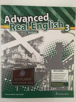 Libro inglés Advanced real english 3, workbook.