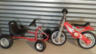 kart pedales + bici