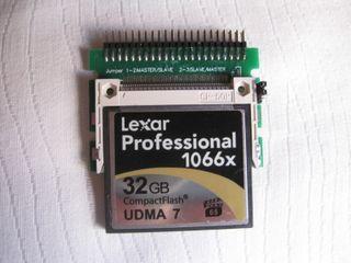 Tarjeta compact flash Leopard 10.5 para portatil