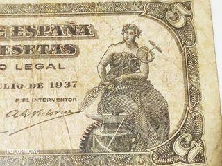 Difícil billete 5 pesetas 1937 Portabella