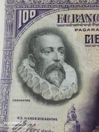 Precioso billete 100 pesetas 1928 Cervantes S.S.