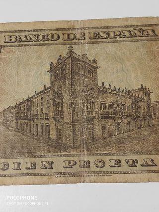 Difícil billete 100 pesetas 1938 Burgos