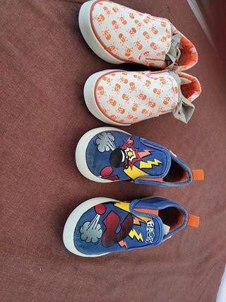 2 pares de zapatillas talla 28