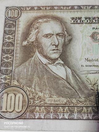 Difícil billete 100 pesetas 1948 Fco. Bayeu