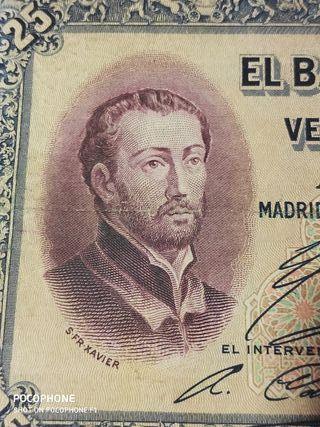 Difícil billete 25 pesetas 1926 Fr. Xabier