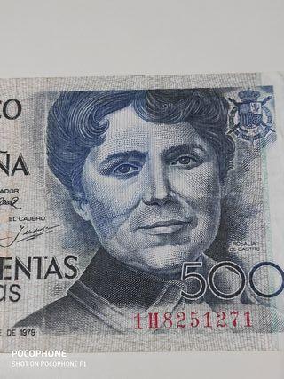 Bonito billete 500 pesetas 1979 Rosalía de Castro