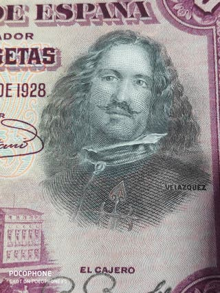 Bonito billete 50 pesetas 1928 Velázquez