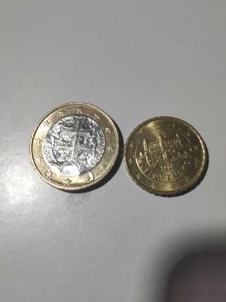 Monedas 1 euro y 10 céntimos Eslovaquia 2009