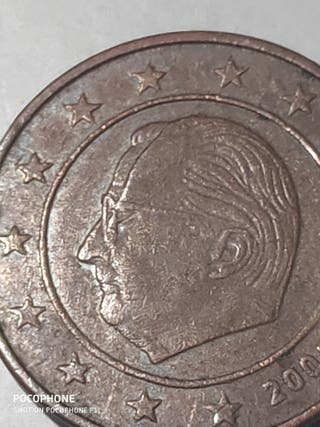 Moneda 2 céntimos 2003 Bélgica Error