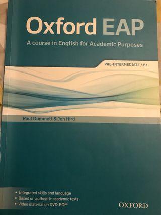 Libro inglés Oxford EAP B1 pre-intermediate