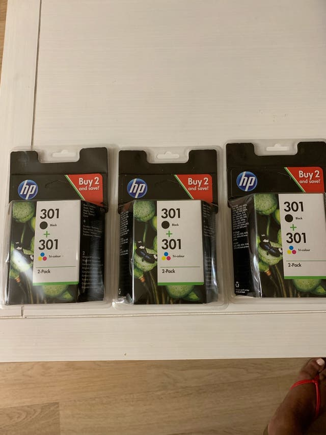 Pack de cartuchos HP 301