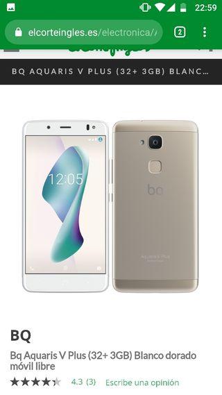 2 teléfonos BQ Aquaris V Plus 32gb gold