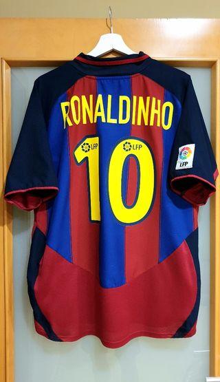 FC BARCELONA 2003/04. L. DEBUT RONALDINHO. PERFECT