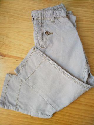 pantalon beig botones zara wallapop