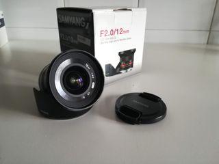 Objetivo Samyang 12mm F2.0 montura Sony E