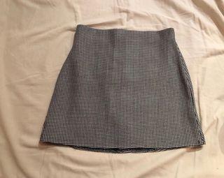 Falda de pata de gayo de Zara