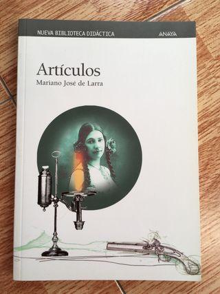 Libro Artículos de Mariano José de Larra