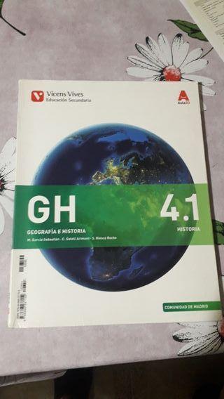 libro de geografía e historia de 4to de ESO