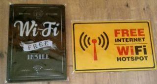 Carteles Wifi gratis.
