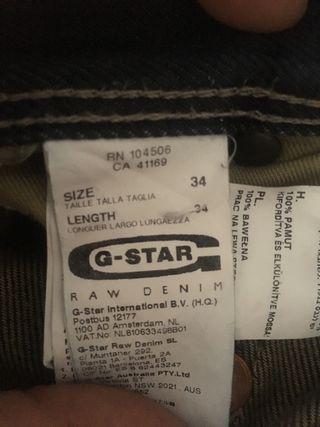 2 pares Pantalones g-star y salsa talla 44