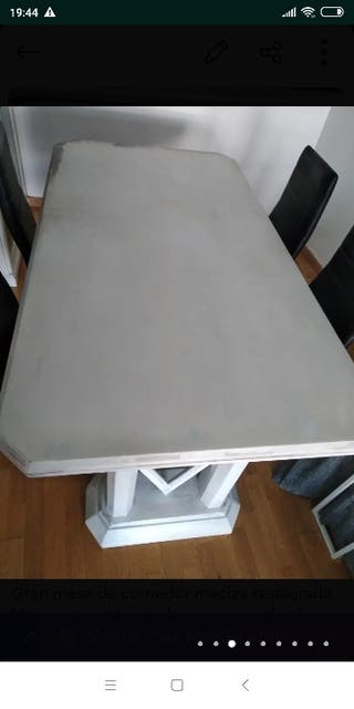 Mesa artesanal comedor#blanca#original