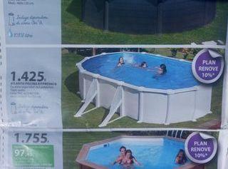 piscina + depuradora de arena
