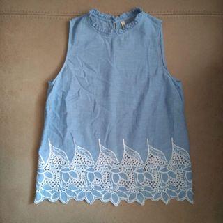 Blusa azul de Stradivarius, talla S