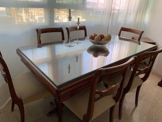 """Mesa de Comedor y Sillas Vintage """"hecho a mano"""""""