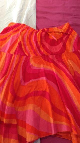 Falda larga colores alegres